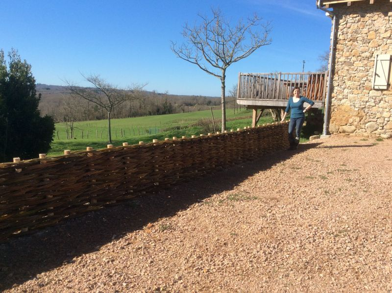 finished willow fence